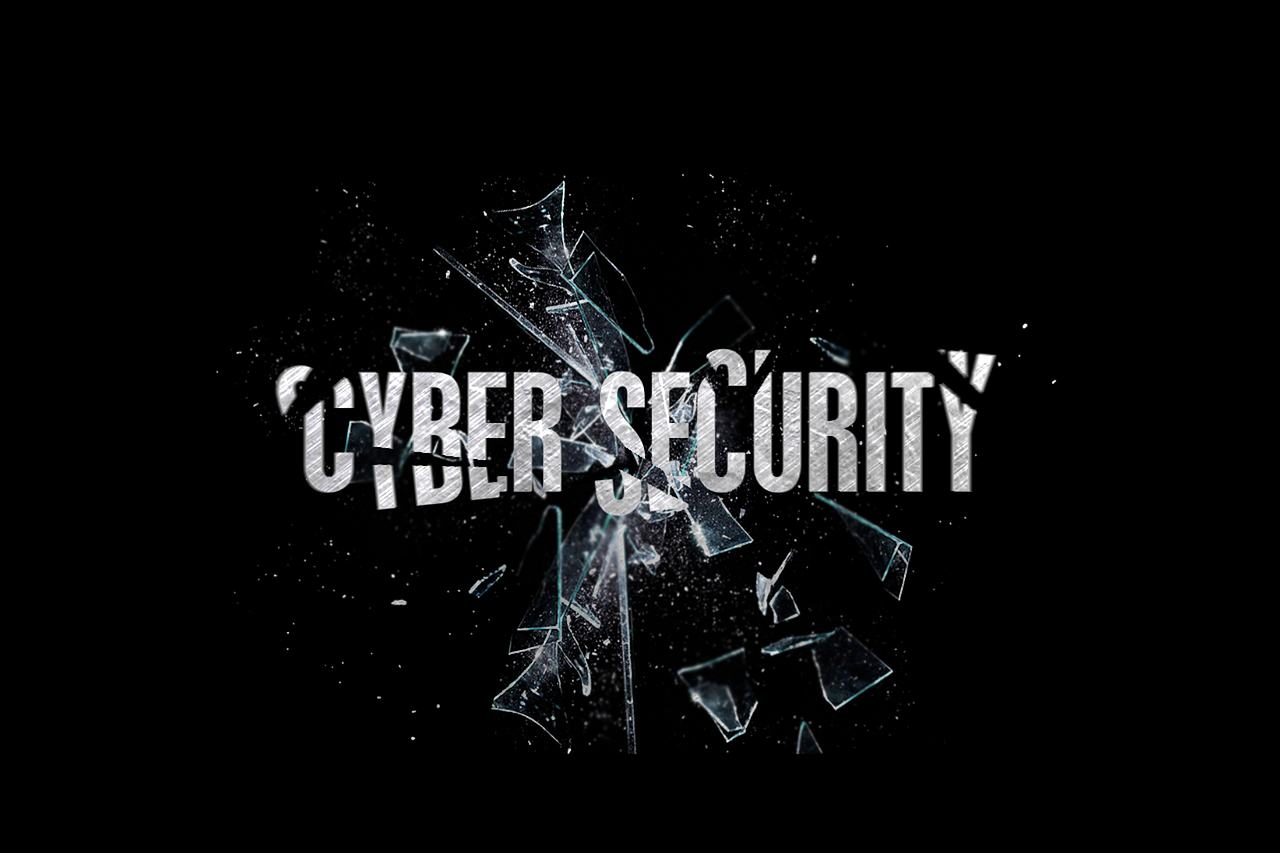 Cybersecurity kaputtes glass