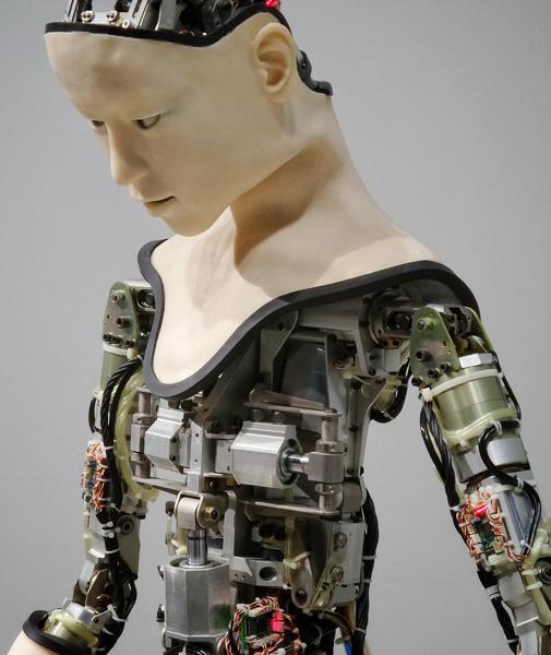 Roboter mit Menschlichen Gesicht