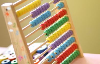 farbiger Rechenschieber
