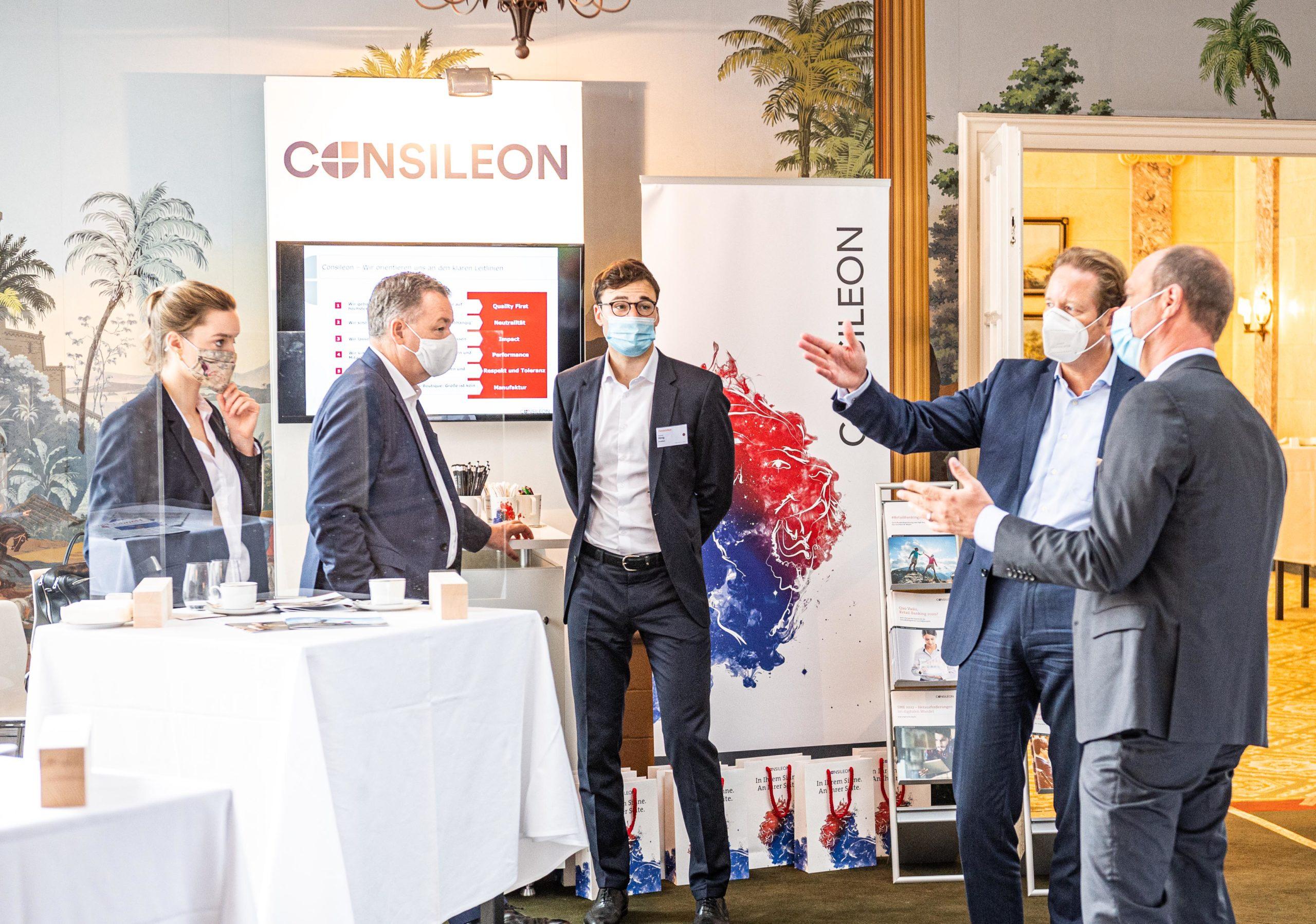 Consileon-Stand auf der Handelsblatt Tagung Zukunft Retail Banking