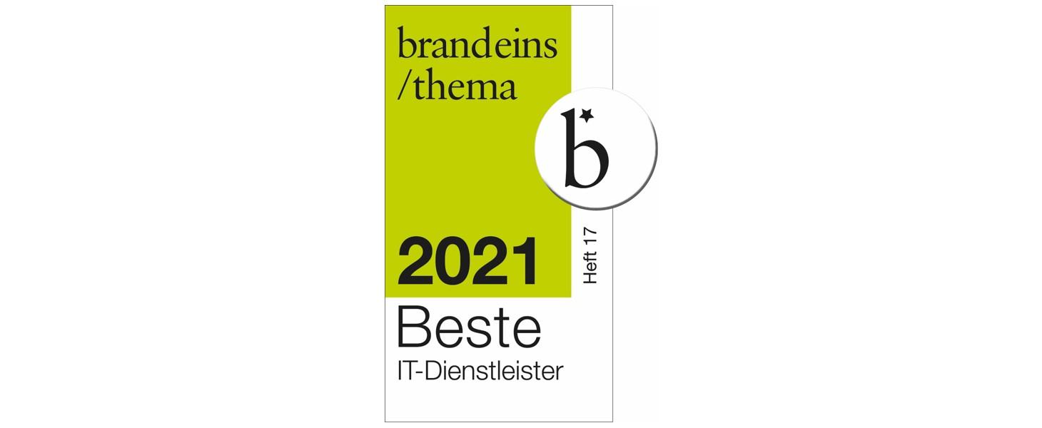 Siegel Beste IT-Dienstleister 2021