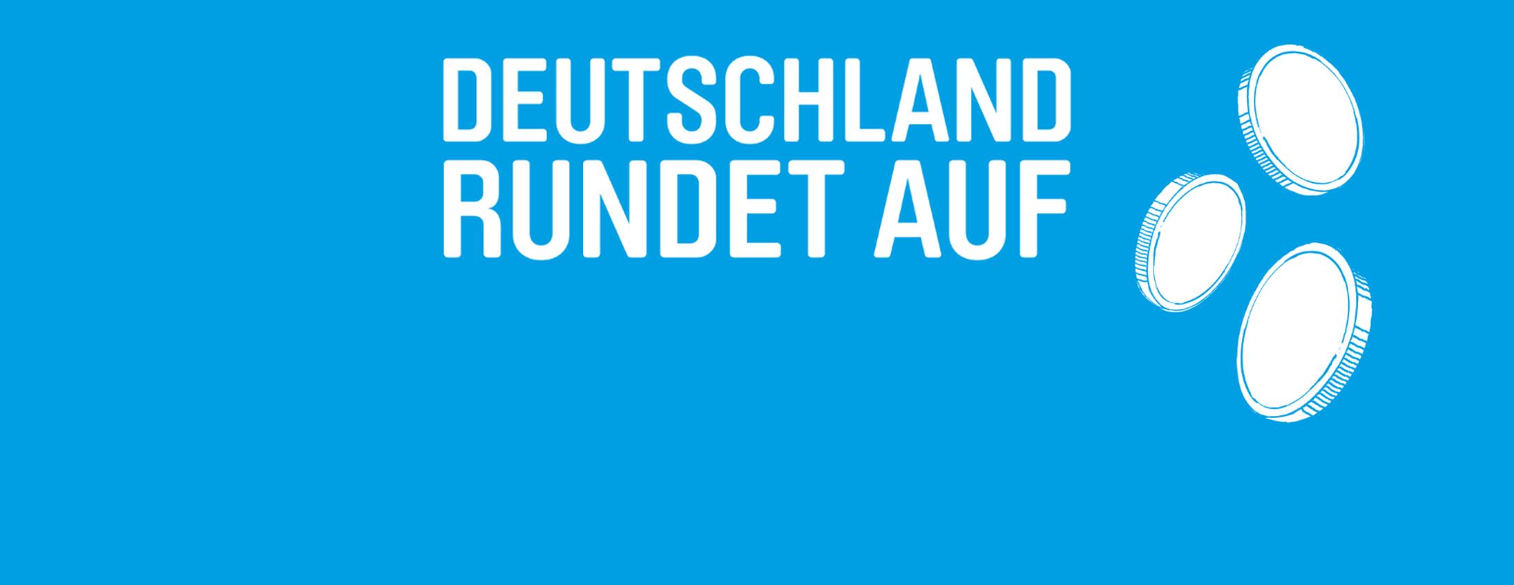 deutschland rundet auf Logo
