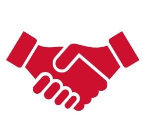 Icons 2 Hände schüttlen für Kooperation