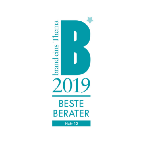 Siegel Bester Berater 2019 von Brand eins Thema