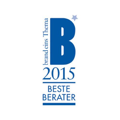 Siegel Bester Berater 2015 von Brand eins Thema