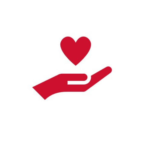 Icon: Herz in der Hand